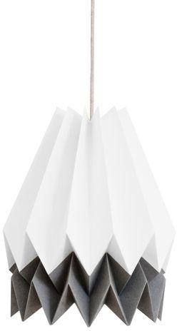 Lampa wisząca Stripe Polar White/Alpine Grey Orikomi biało-szara oprawa w dekoracyjnym stylu