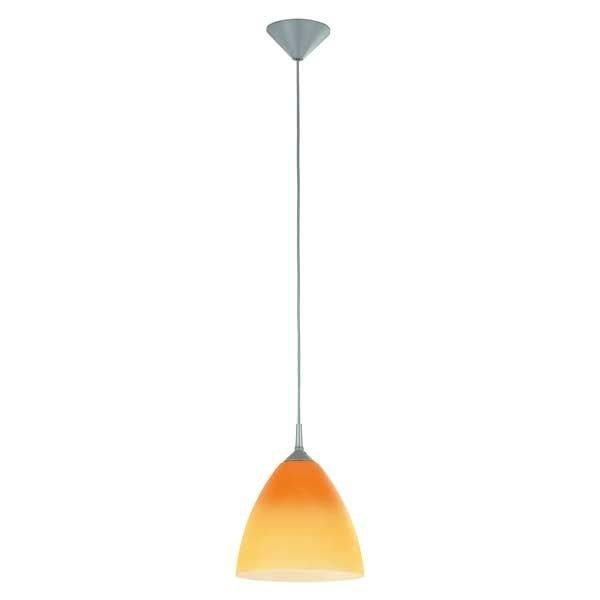 Lampa wisząca zwis DAWID pomarańczowy/szary śr. 23cm