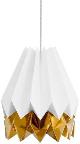 Lampa wisząca Stripe Polar White/Warm Gold Orikomi biało-złota oprawa w dekoracyjnym stylu