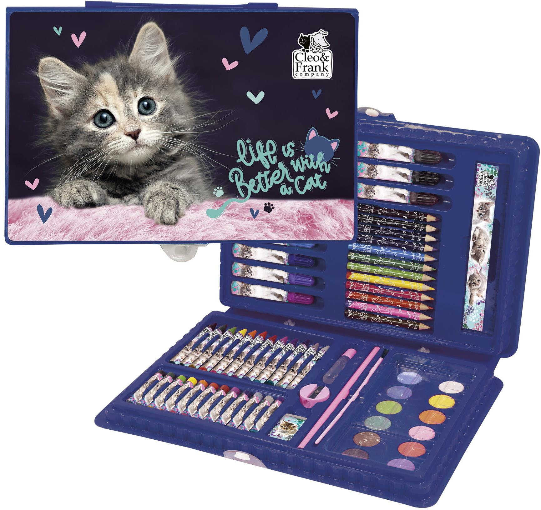 Zestaw artystyczny, plastyczny w walizce - KOT Kotek Kiciuś