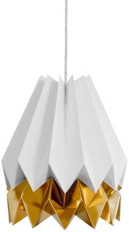 Lampa wisząca Stripe Light Grey/Warm Gold Orikomi szaro-złota oprawa w dekoracyjnym stylu