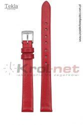Pasek TK118CZ/8 - czerwony, gładki