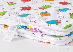 MAMO-TATO Kocyk Minky dla niemowląt i dzieci 75x100 Szalone owieczki białe / biały