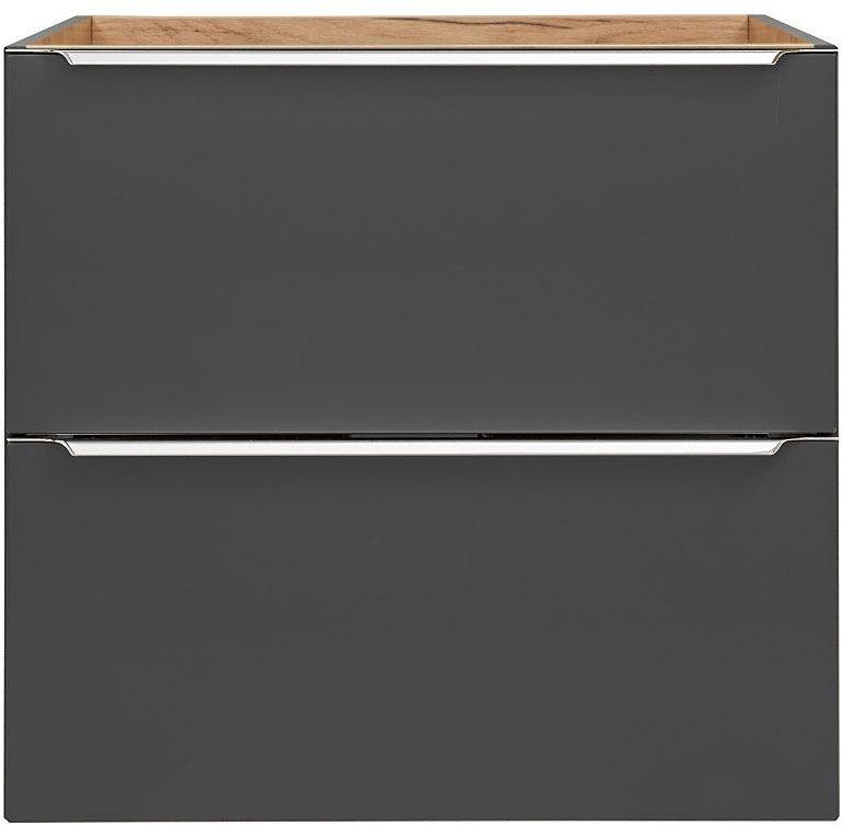 Podwieszana szafka łazienkowa pod umywalkę - Malta 3X Czarny mat 80 cm