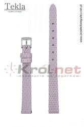 Pasek TK033JFIO/10 - jasny fioletowy, imitacja skóry jaszczurki