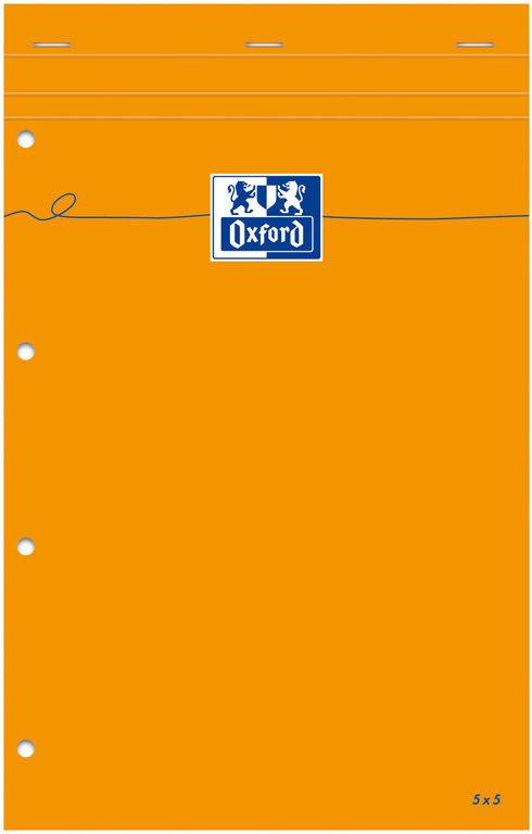 Blok notatnikowy Oxford Everyday A4+ w kratkę - pomarańczowy