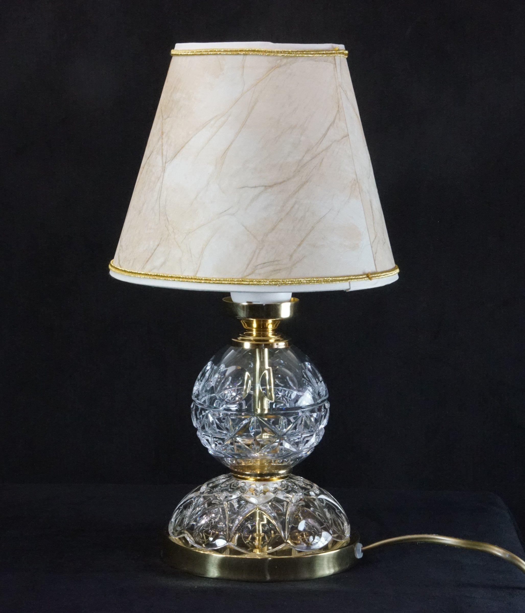 Lampka nocna z kryształkami