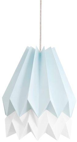 Lampa wisząca Stripe Mint Blue/Polar White Orikomi niebiesko-biała oprawa w dekoracyjnym stylu