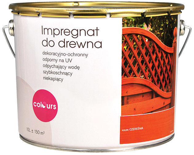 Impregnat do drewna Colours grafitowy 10 l