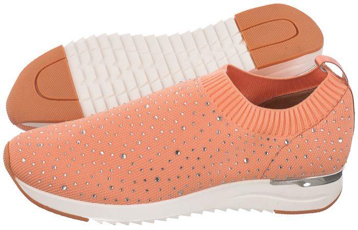 Sneakersy Caprice Różowe 9-24700-26 675 Peach Knit (CP254-b)
