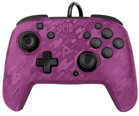 PDP Pad przewodowy FACEOFF Deluxe (camo foletowy)