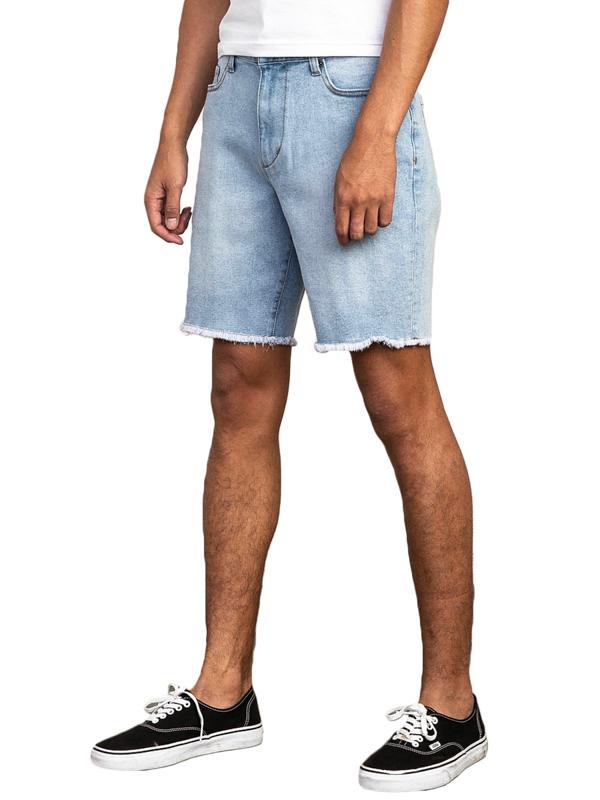 RVCA DAGGERS DENIM ORIGINAL BLEACH męskie spodenki jeansowe - 34