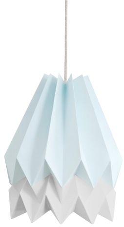 Lampa wisząca Stripe Mint Blue/Light Grey Orikomi niebiesko-szara oprawa w dekoracyjnym stylu