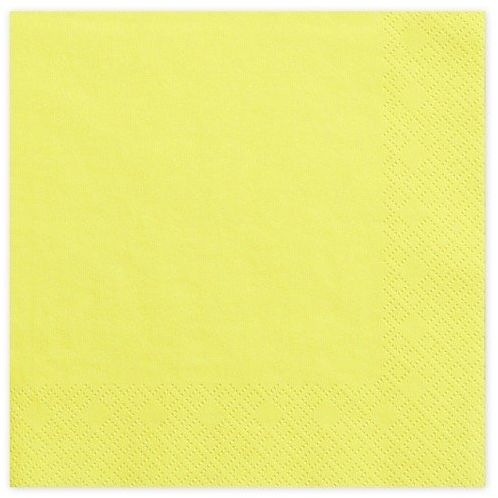Serwetki żółte 33cm 20 sztuk SP33-1-084