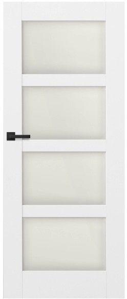Drzwi bezprzylgowe pokojowe Connemara 80 prawe kredowo-białe