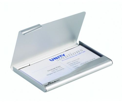 Etuii na wizytówki DURABLE CARD BOX srebrne 2415-23