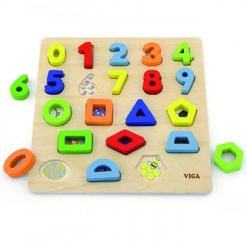 Viga 50119 Puzzle sorter kształtów cyfry i krztałty