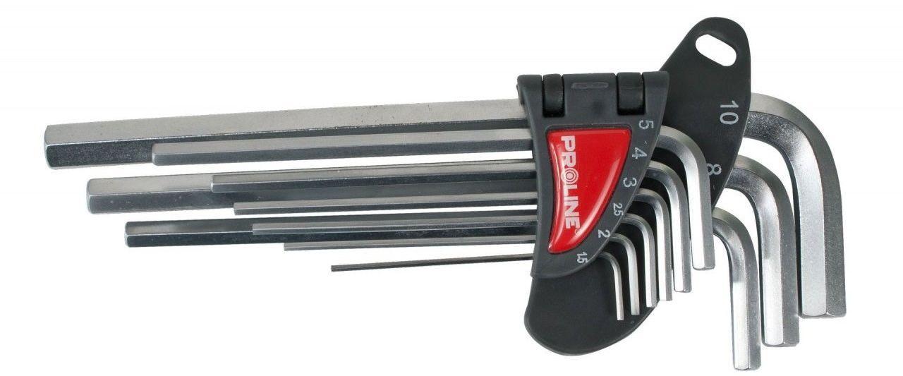 Zestaw kluczy imbusowych długich 1,5-10mm 9 sztuk PROLINE 48319