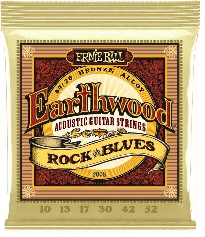 Ernie Ball 2008 Earthwood Rock & Blues struny do gitary akustycznej 10-52