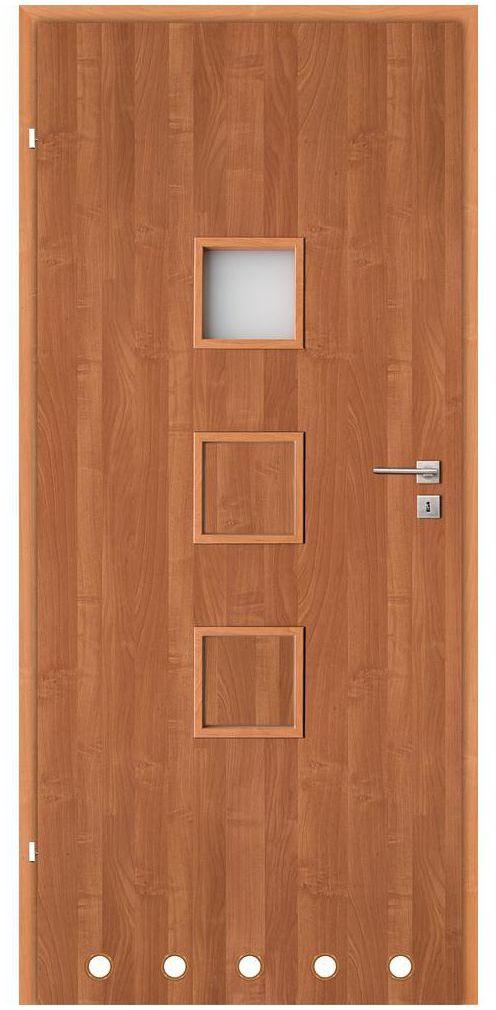 Skrzydło drzwiowe z tulejami wentylacyjnymi LEA Olcha 80 Lewe CLASSEN