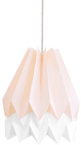 Lampa wisząca Stripe Pastel Pink/Polar White Orikomi różowo-biała oprawa w dekoracyjnym stylu