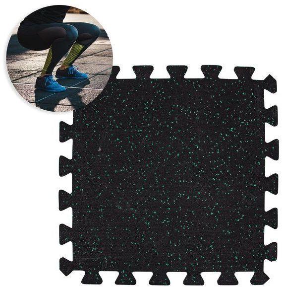 Mata ochronna puzzle składana pod sprzęt, do sal fitness 64x64x0,5 cm Puzeko Insportline