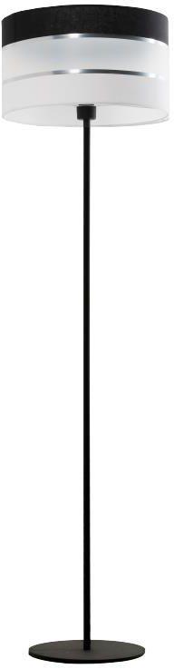 Lampex Nemia 852/ST lampa podłogowa czarna nowoczesna 1x40W E27 151cm