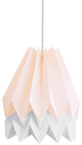Lampa wisząca Stripe Pastel Pink/Light Grey Orikomi różowo-szara oprawa w dekoracyjnym stylu
