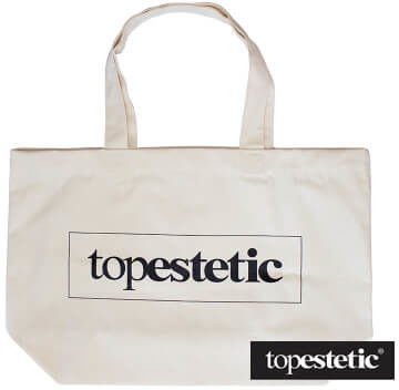 Topestetic (R) Plażowa torba topestetic Materiałowa Duża (kolor naturalny)