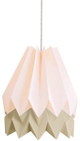 Lampa wisząca Stripe Pastel Pink/Light Taupe Orikomi dwubarwna oprawa w dekoracyjnym stylu