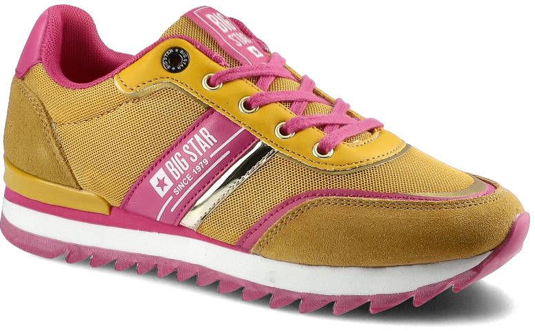 Sneakersy BIG STAR HH274273 Żółty