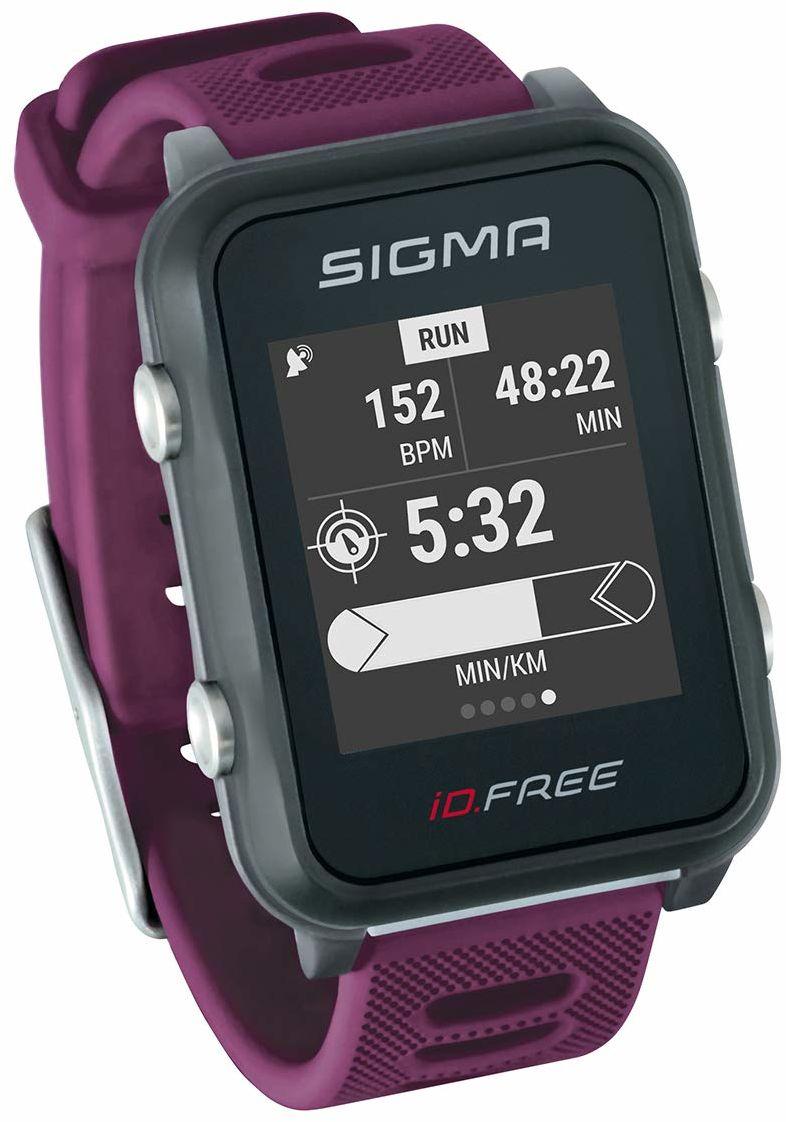 SIGMA SPORT Unisex ID Free GPS Multisport zegarek na zewnątrz i nawigacja, śliwka,