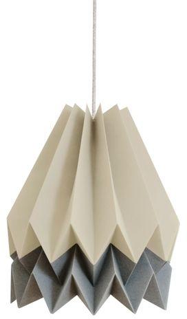 Lampa wisząca Stripe Light Taupe/Alpine Grey Orikomi dwubarwna oprawa w dekoracyjnym stylu