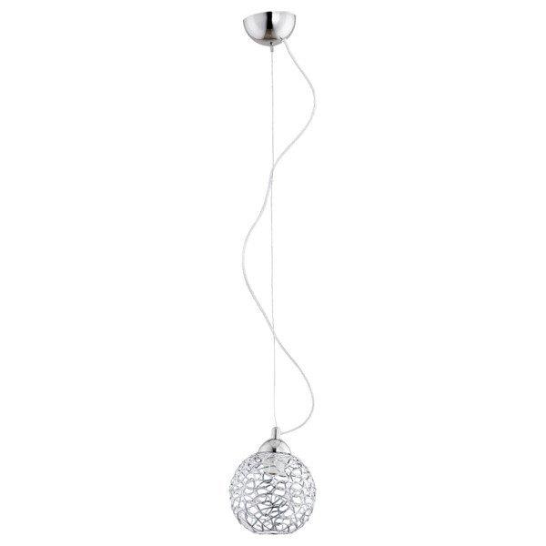 Lampa wisząca zwis druciany kula AMASO chrom śr. 15cm