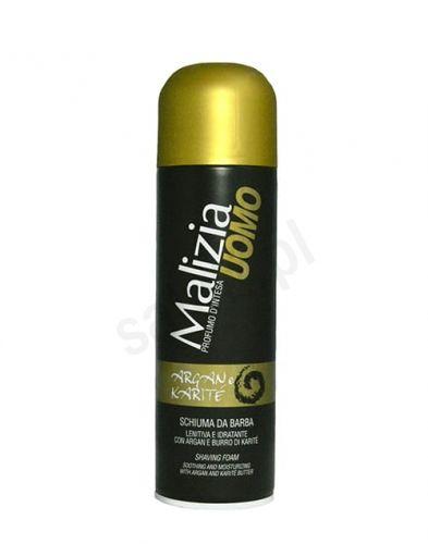 Malizia Uomo Argan i masło Karite - Pianka do golenia (300 ml)