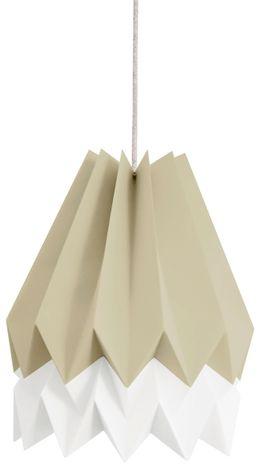 Lampa wisząca Stripe Light Taupe/Polar White Orikomi dwubarwna oprawa w dekoracyjnym stylu