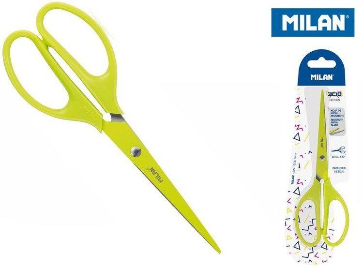 Nożyczki biurowe 17cm żółte MILAN