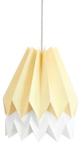Lampa wisząca Stripe Pale Yellow/Polar White Orikomi żółto-biała oprawa w dekoracyjnym stylu