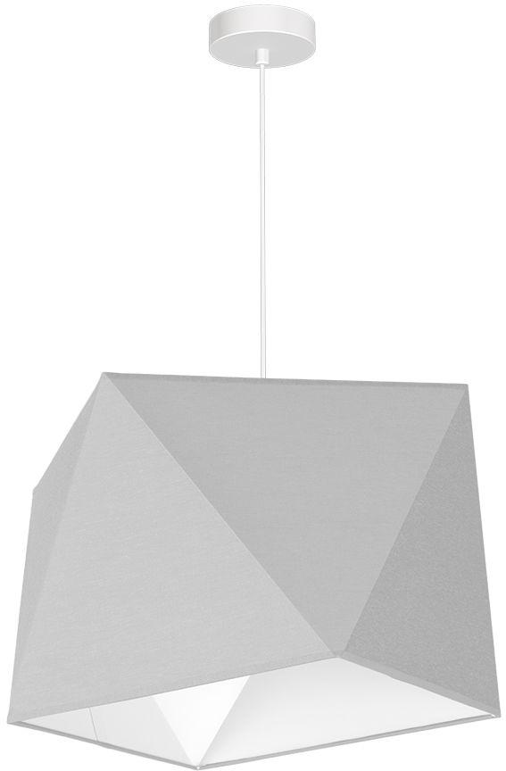 Milagro FRANK MLP4702 lampa wisząca metal i tkanina nieregularne kształty szary 1xE27 42cm