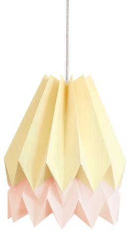 Lampa wisząca Stripe Pale Yellow/Pastel Pink Orikomi żółto-różowa oprawa w dekoracyjnym stylu