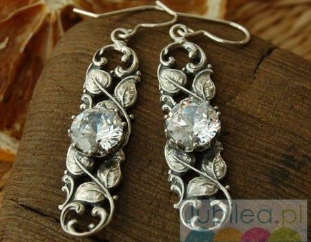Frodia - srebrne kolczyki z kryształem swarovskiego