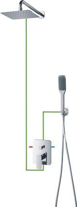 OMNIRES System prysznicowy podtynkowy, chrom Apure SYSAP10CR