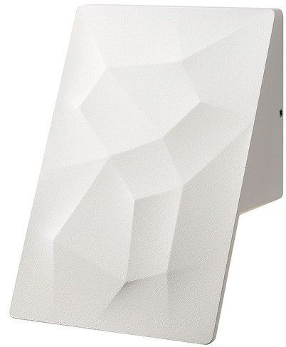 Zewnętrzny kinkiet LED CRACKS na elewację 094 - biały