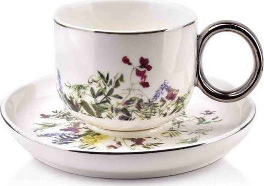 Filiżanka Porcelanowa ze Spodkiem do Kawy Herbaty Elfique Affek Design 270 ml