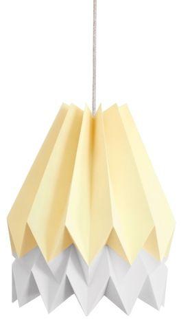 Lampa wisząca Stripe Pale Yellow/Light Grey Orikomi żółto-szara oprawa w dekoracyjnym stylu