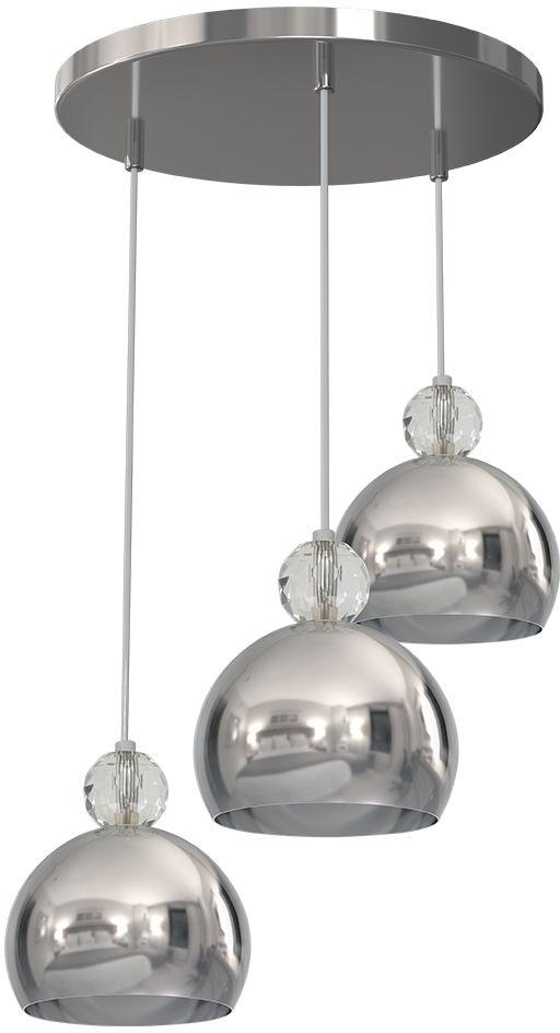 Milagro TOLEDO MLP4246 lampa wisząca metalowe klosze chrom regulacja wysokości 3xE27 40cm
