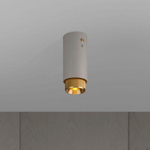 Lampa Exhaust Surface Szara z mosiądzem