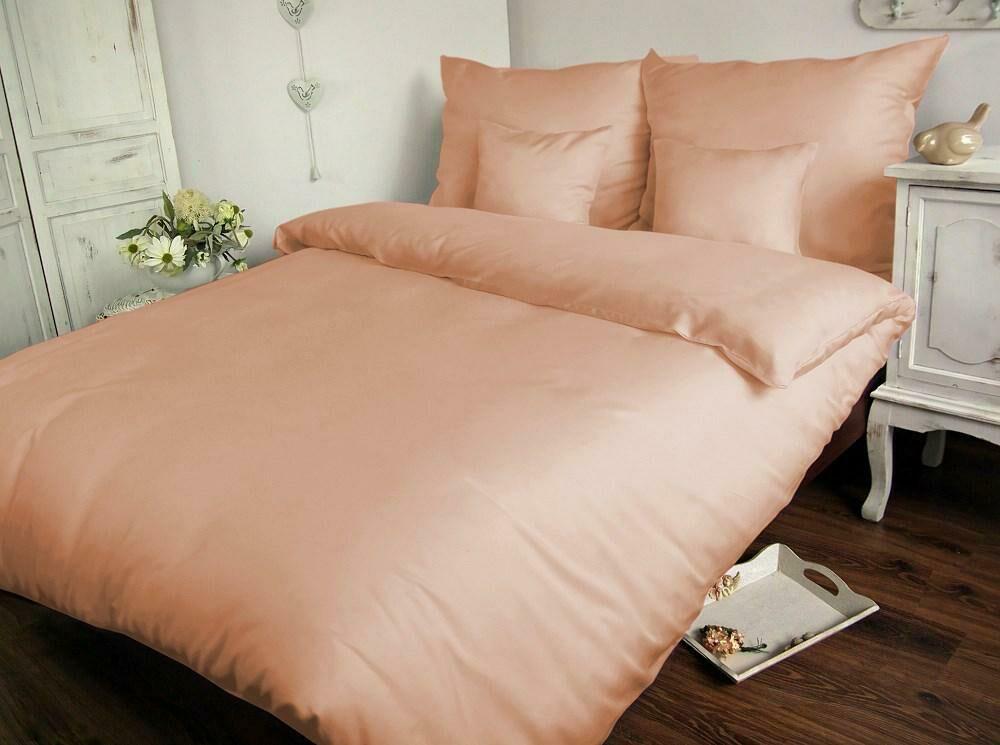 Pościel satynowa 160x200 różowa pudrowa jednobarwna 006 Carmen