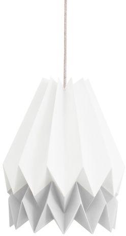 Lampa wisząca Stripe Polar White/Light Grey Orikomi biało-szara oprawa w dekoracyjnym stylu