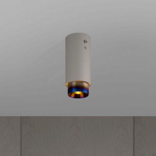 Lampa Exhaust Surface Szara z paloną stalą